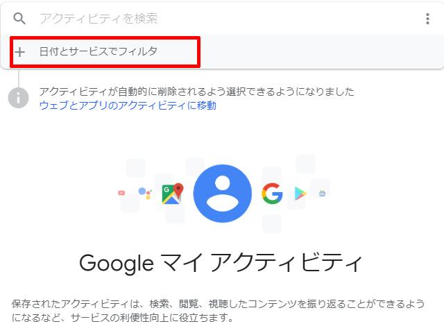 googleアクティビティ