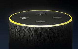 Amazon Echoシリーズでは黄色のリングでお知らせ