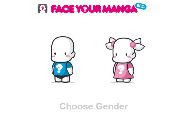 Face your manga 性別を選びます