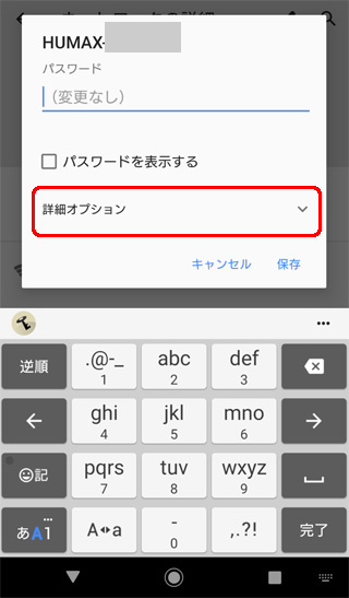 IPアドレス固定 詳細オプション